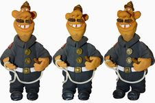 Free Funny Fireman Royalty Free Stock Photography - 9008697