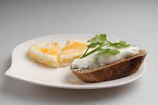 Egg Heart Royalty Free Stock Photo