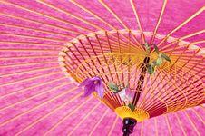 Free Paper Umbrella Background Royalty Free Stock Photos - 9009468