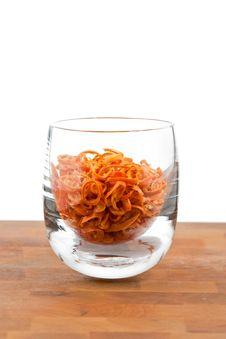 Free Dried Chopped Red Chilies In Glass Stock Photos - 9009813