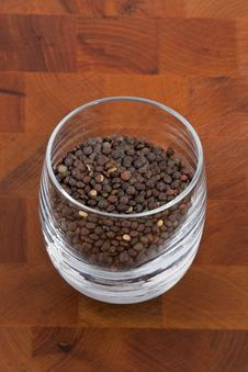 Green Lentils In Glass