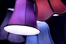 Free Set Of Colorful Vintage Lamp Shades Royalty Free Stock Images - 90036699