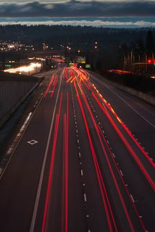Free Light Trails On Highway Stock Photo - 90097060