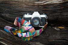Free Camera With Strap Royalty Free Stock Image - 90098486