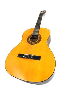 Free Wooden Acoustic Guitar Stock Photography - 90099152