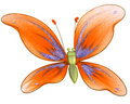 Free Beautiful Butterfly Toy Isolated On White Royalty Free Stock Image - 9010126