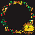 Free Beer Wreath Stock Images - 9019284