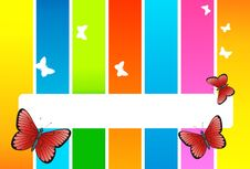 Free Butterfly Card Royalty Free Stock Photography - 9010787