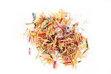 Shavings From A Pencil Royalty Free Stock Image