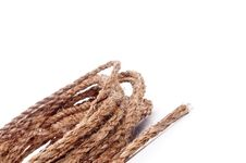 Free A Coil Of Rope On White Stock Photos - 9013013