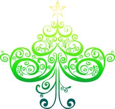 Free Decorative Christmas Tree Royalty Free Stock Image - 9013496