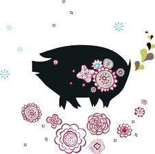 Free Pig Design Stock Image - 9013501