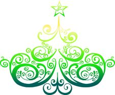 Free Decorative Christmas Tree Royalty Free Stock Photography - 9013527