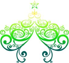 Free Decorative Christmas Tree Stock Images - 9013554