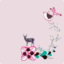 Free Simple Animals And Flora Design Royalty Free Stock Photos - 9013558