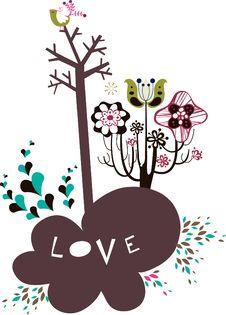 Free Bird And Tree Wallpaper Stock Photos - 9013663