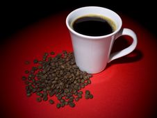 Free Coffee And Beans Stock Image - 9013671