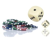 Free Rolling Dices Royalty Free Stock Image - 9013676