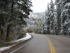 Free Driving Threw Spearfish Canyon - Winter Royalty Free Stock Photo - 9014035