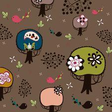 Free Bird And Tree Wallpaper Stock Photo - 9014040