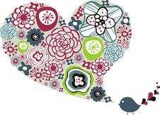 Free Flora Love Shape Card Stock Photo - 9014170