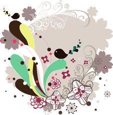 Free Garden Bird Design Royalty Free Stock Photos - 9015108