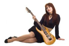 Free Girl With An Electric Guitar Stock Photo - 9016270