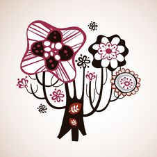 Free Lovely Tree Design Royalty Free Stock Images - 9016879