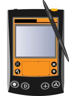 Free Black And Orange Pocket Computer Stock Image - 9016941