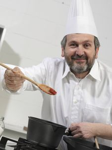 Free Portrait Of A Cook Stock Images - 9017204