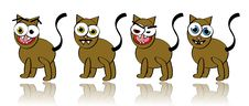 Free Vector Collection Of Silly Cat Illustrations Royalty Free Stock Photography - 9019167