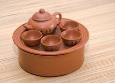 Free Clay Little Table For Tea Royalty Free Stock Images - 9019209