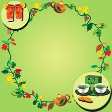 Free Tea Wreath Royalty Free Stock Photos - 9019338