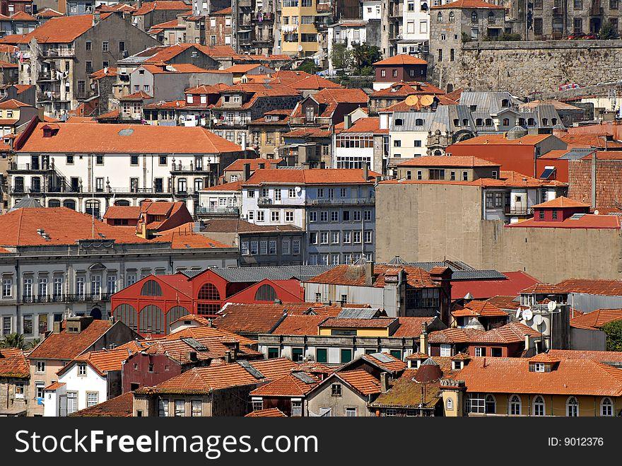 View of Porto, Portugal.