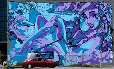 Free Mural Les Mills Building. Stock Photos - 90153313