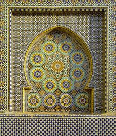 Free Moroccan Mosaic Fountain Royalty Free Stock Image - 90153386
