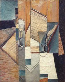 Free &x22;Le Livre&x22;, Juan Gris, 1913. Musée D Art Moderne De La Ville De Paris, Palais De Tokyo. Royalty Free Stock Images - 90153569