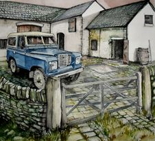 Free Series 2 Landrover On The Farm Royalty Free Stock Photos - 90154008