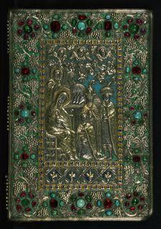 Free Gospel Book, Original Treasure Binding, Walters Manuscript W.540, Upper Board Outside Stock Image - 90154131