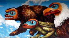 Free Mural Ketchikan Alaska. Royalty Free Stock Photography - 90154187