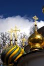 Free Christian Ortodoxal Domes Of Temple. Spaso-Preobra Stock Images - 9023244