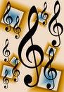 Free Treble Clef Music Background Royalty Free Stock Photos - 9026148