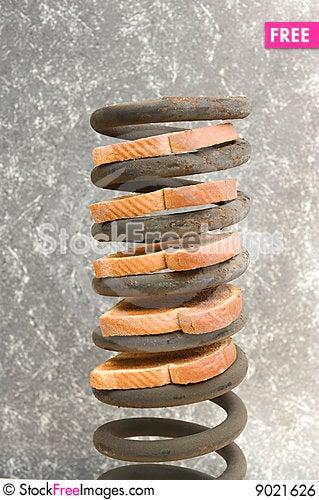 Toast stack Stock Photo
