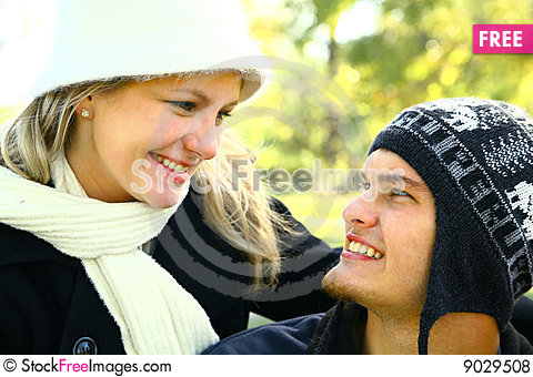 Romantic Couple In Love