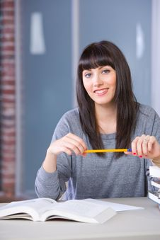 Free Young Woman Studying Stock Images - 9020054