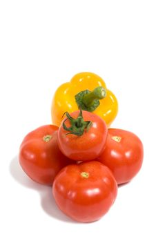 Free A Group Of Vegetables Isolated On White Stock Image - 9020141