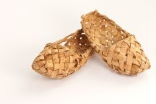 Old Russian Bast Shoes Royalty Free Stock Photos