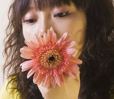 Free Flowers And Girl Stock Image - 9021111