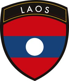 Free Laos  Flag Royalty Free Stock Photography - 9022447
