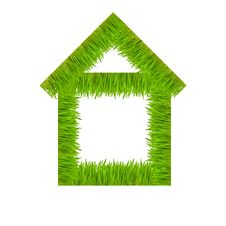 Free Concept Of The House From A Green Juicy Grass Stock Photos - 9022663